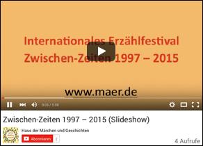 Das Erzählfestival Zwischen-Zeiten in Aachen wird 20 Jahre alt! Ein Rückblick in Bildern über die Jahre 1997 bis 2015